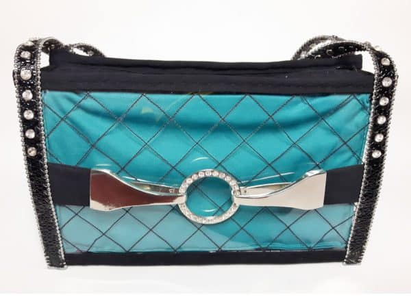 Upcycled Plastic Bottle Handbag can be customized with different materials to line, rhinestones, buckles and more.
