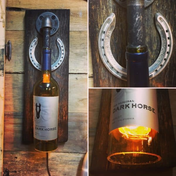 Make a Wine Bottle Wall Sconce as an amazing holiday gift!