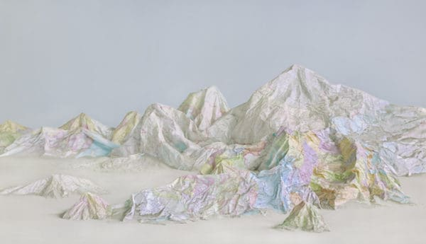 Earth's Diverse Landscapes Crafted from Artistically Repurposed Maps & Books 1 • Recycled Art