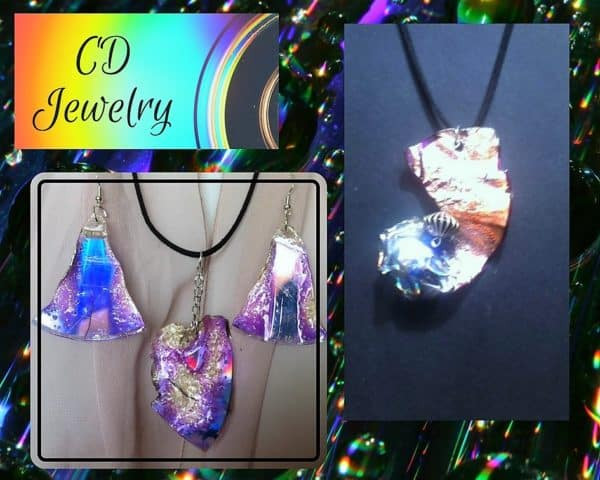 It's music to your ears; CD Upcycled Jewelry Pieces are gorgeous!