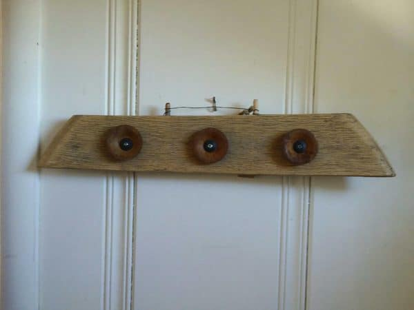 Upcycled Dog Beds and more like this hanger made from spool hardware and one spool slat.