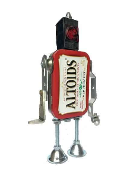 Altoids Robot is a fun upcycling project that you can make with the kids.