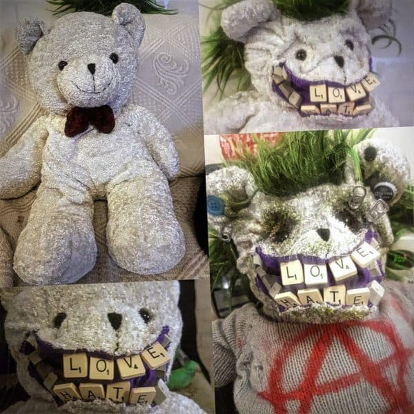 This Punk Bear has some street skills, wicked piercings, and scrabble teeth.