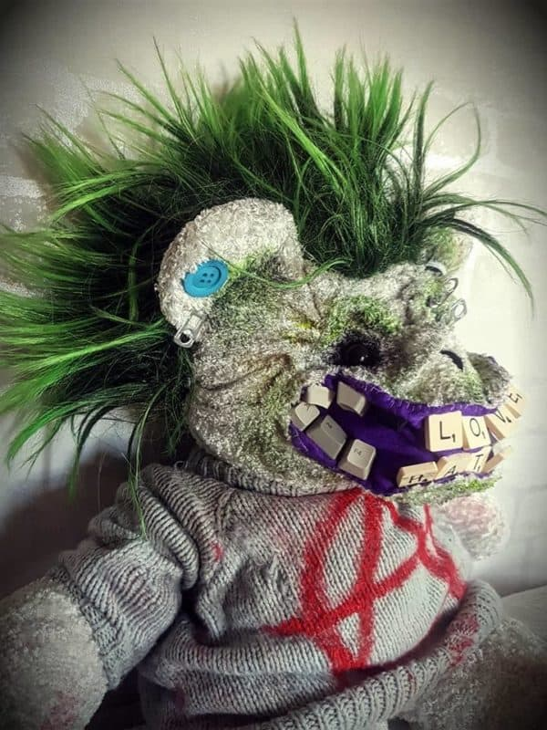 With a green-dyed faux-hawk, this Punk Bear means business.