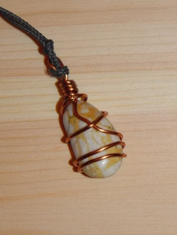 Use Upcycled Copper to wrap natural elements into a pendant.