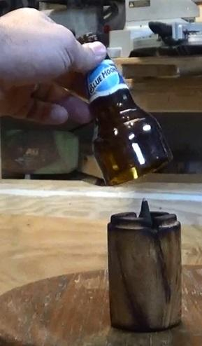 Use an old log to create a beautiful, unique Incense Burner