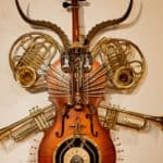 Concerto Grosso Nuovo Sculpture On A Cello 1 • Recycled Art