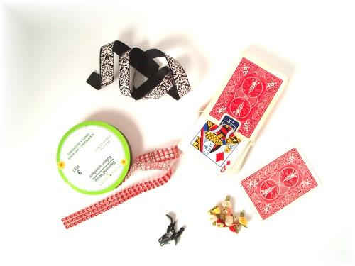 A sampling of supplies used for Card Dolls.