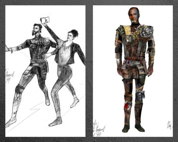 My Knight Costume sketch.