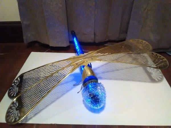 #4 of our Top 5 Ideas of 2018 was this LED lit dragonfly lamp.