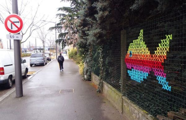 The Best of Cross-stitched Street Art 7 • Do-It-Yourself Ideas