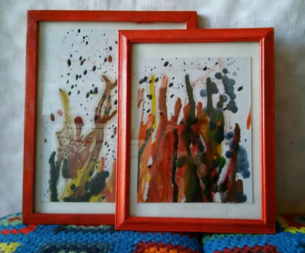 Make a series of Upcycled Crayon Art pieces.