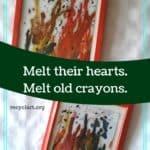 Upcycled Crayon Art / Reciclado De Crayones 1 • Home & décor