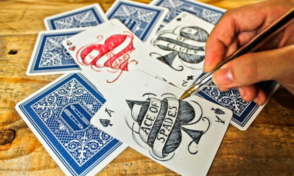 Arts & Crafts With Old Playing Cards 3 • Recycled Cardboard