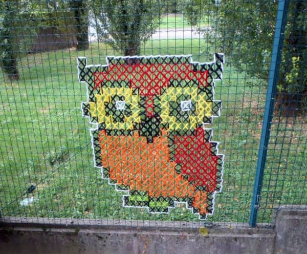 The Best of Cross-stitched Street Art 11 • Do-It-Yourself Ideas