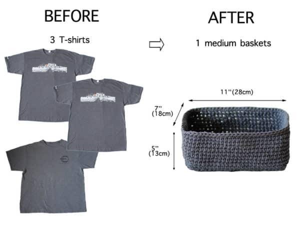 Upcycle Old Shirts Into T-shirt Yarn Baskets 3 • Clothing