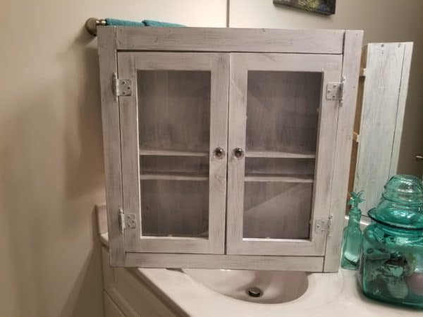 This Bathroom Cabinet adds lots of storage!