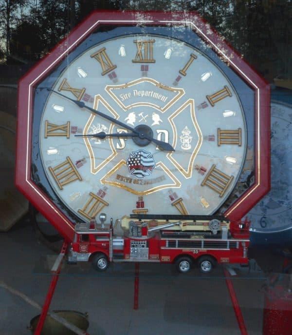 "Dp Fire Department Clock ""Ted"" 1 • Wood & Organic"