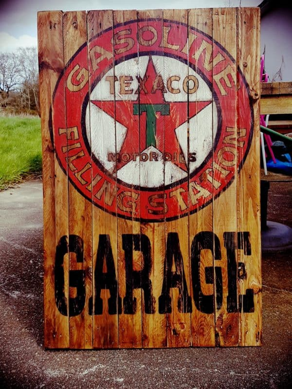 Reproduction of Old Billboards on Wooden Pallets 1 • Recycled Pallets