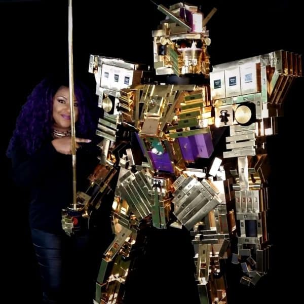 Amazing Giant Robot Out Of Empty Cosmetic Boxes 1 • Recycled Packaging
