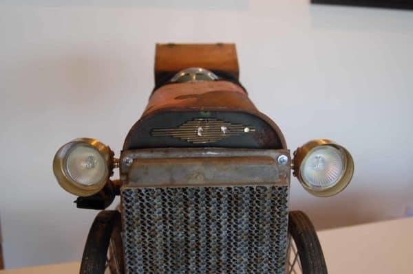The Jalopy: Vintage Car Art Sculpture 5 • Recycled Art