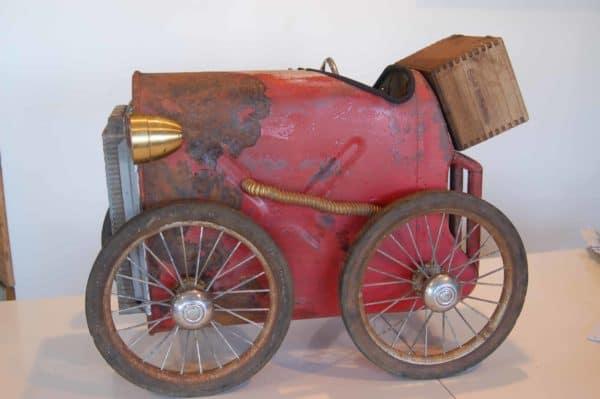 The Jalopy: Vintage Car Art Sculpture 1 • Recycled Art