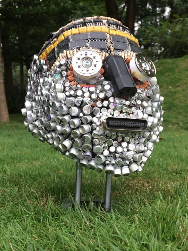 E-waste Abstract Sculptures 1 • Recycled Electronic Waste