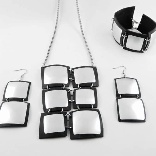 Recycled Inner Tubes & Cans Jewelry by Ckoasa 17 • Upcycled Jewelry Ideas