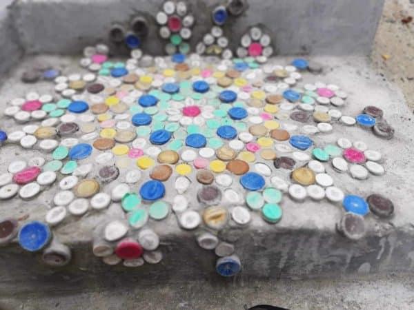 Upcycled Plastic Bottle Cap Mosaics 3 • Recycled Plastic
