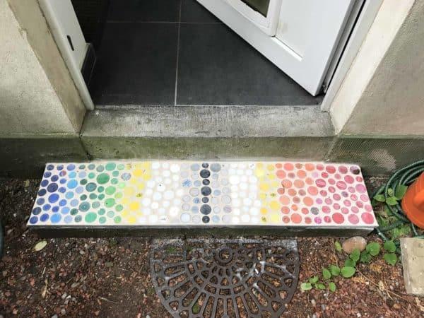 Upcycled Plastic Bottle Cap Mosaics 1 • Recycled Plastic