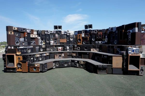Arena: Mobile Interactive Sound Sculpture 1 • Recycled Electronic Waste