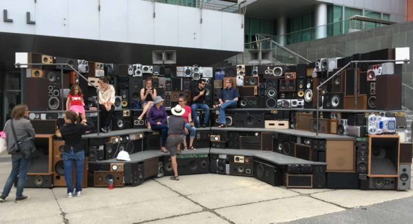 Arena: Mobile Interactive Sound Sculpture 3 • Recycled Electronic Waste