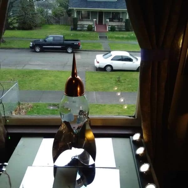 The Wine Bottle Solar Powered Chianti Star Cruiser 13 • Recycled Glass
