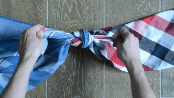Upcycle Textiles into Furoshiki Purses: Using Knots & Folds 3 • Clothing & Accessories