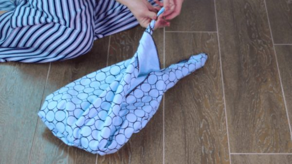 Upcycle Textiles into Furoshiki Purses: Using Knots & Folds 11 • Clothing & Accessories