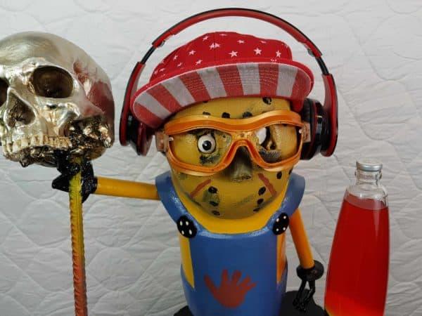 Handmade Minion Figurines 11 • Recycled Art
