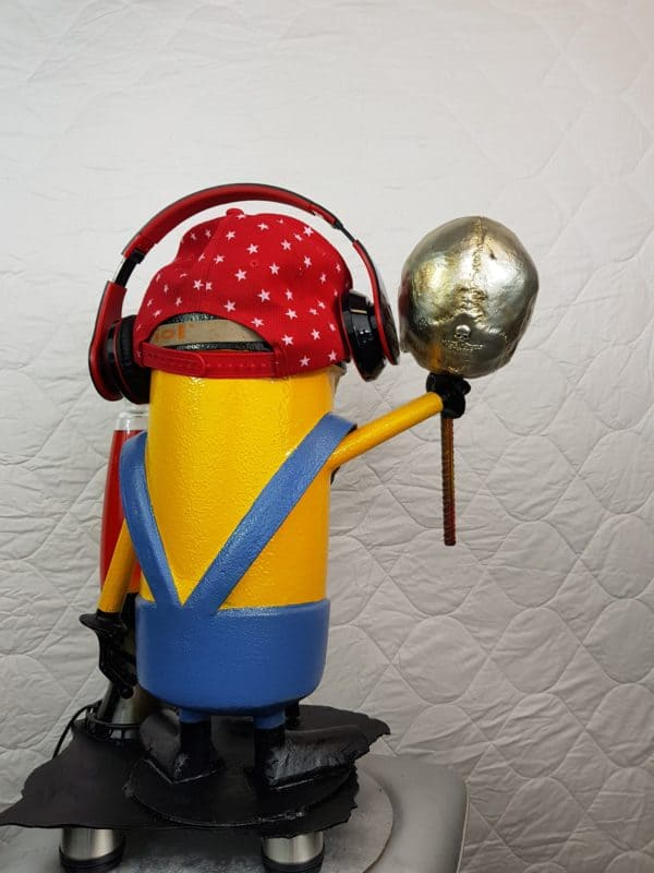 Handmade Minion Figurines 9 • Recycled Art