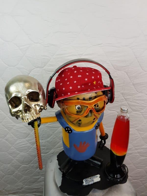 Handmade Minion Figurines 5 • Recycled Art