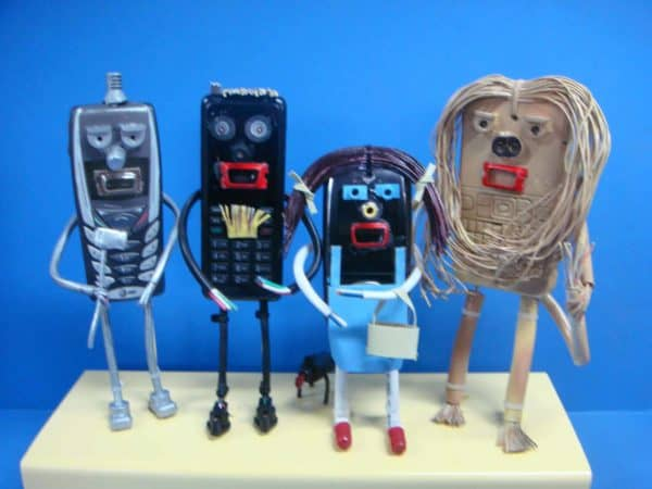 Wizard of Oz: Sculptures from Recycled Cell Phones 1 • Recycled Electronic Waste