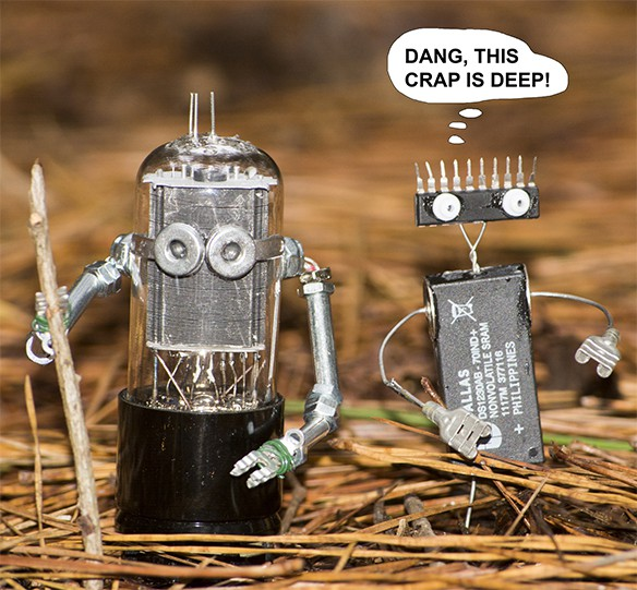 Aliens in the Forest 1 • Recycled Electronic Waste