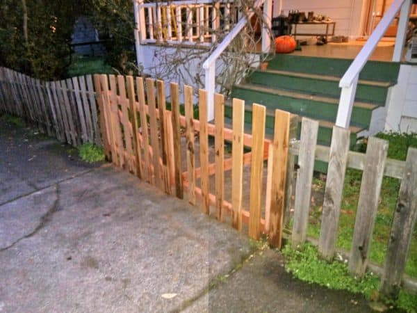 Recycled Fence From Discarded Fence Boards 3 • Wood & Organic