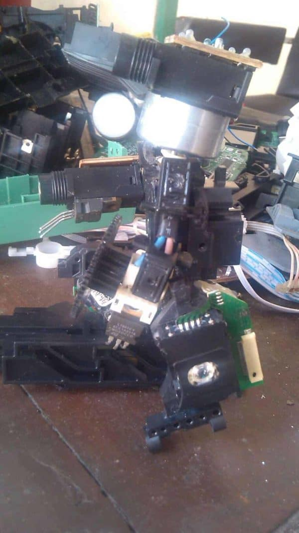 The Optic Reader Robot 3 • Recycled Electronic Waste