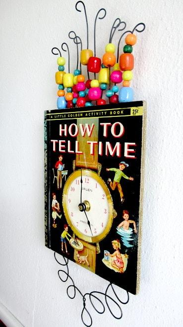 Little Golden Book Clock 3 • Recycling Paper & Books