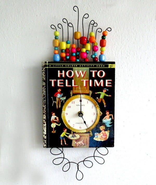 Little Golden Book Clock 1 • Recycling Paper & Books