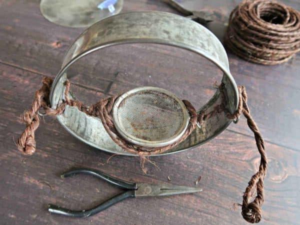 How To Make A Cute Cake Pan Window Bird Feeder 7 • Recycling Metal