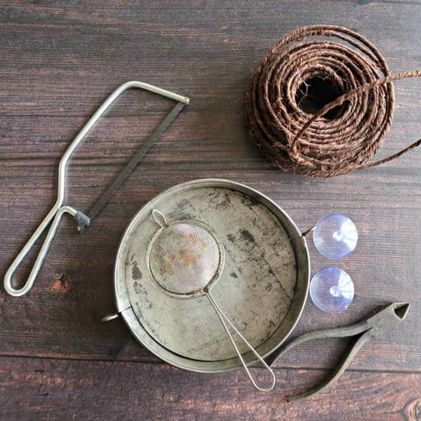 How To Make A Cute Cake Pan Window Bird Feeder 3 • Recycling Metal