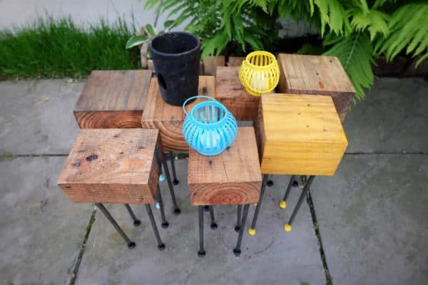 Pallet Wood Modular Patio Coffee Table 13 • Recycled Pallets