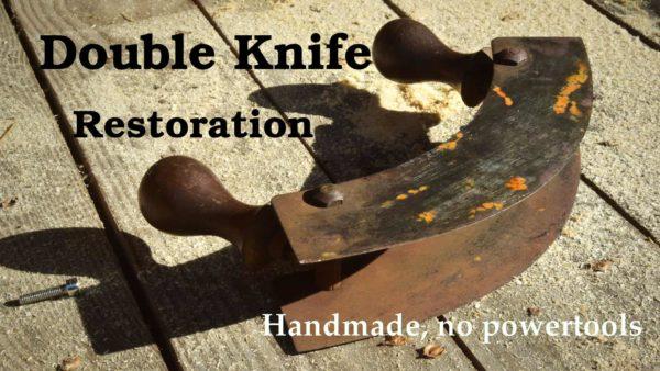 Rusty Mezzaluna Rescue - Antique Rusty Double Knife Restoration 1 • Diy video tutorials