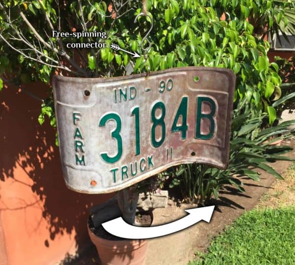 License Plate Wind Spinners 3 • Garden Ideas