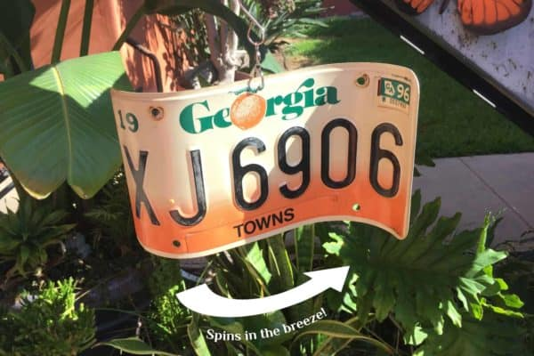 License Plate Wind Spinners 9 • Garden Ideas